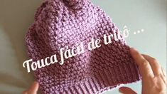 TOUCA FÁCIL DE TRICÔ ... - YouTube Miniature Calendar, Knitted Hats, Crochet Hats, Pretty Little Liars, Hippie Boho, Crochet Projects, Diy And Crafts, Youtube, Sewing