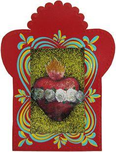 Red Sacred Heart Nicho