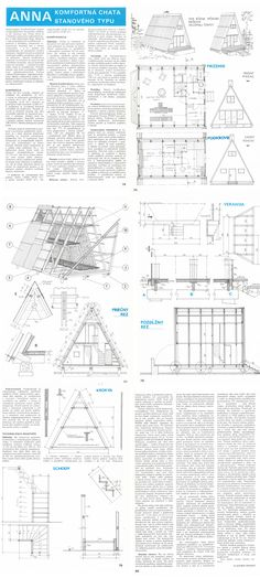 This Pin was discovered by Goc Tyni House, Attic House, Tiny House Cabin, Cabin Homes, A Frame Cabin, A Frame House, Modern Tiny House, Modern House Plans, Triangle House