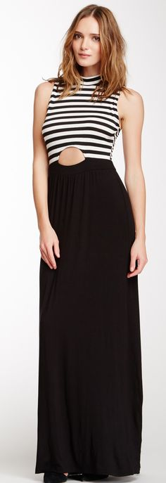Keyhole Front Maxi Dress
