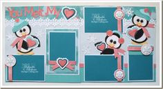 Penguin Layout using Artiste Cartridge Only. http://www.mypapercrafting.com/2012/12/ctmhpenguinlo.html