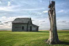 HDR Prairie farmhouse abandonment.  Sunny S-H Photography.