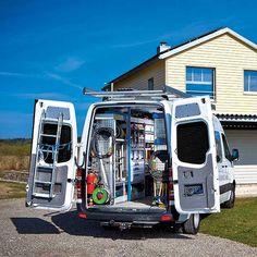 Ensure better organisation, structure and safety with van racking. Van Storage, Trailer Storage, Truck Storage, Tool Storage, Electrical Projects, Electrical Engineering, Van Racking Systems, Mobile Auto Repair, Van Shelving