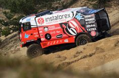 Instaforex Loprais Team - rebranding of the complete fleet, design and wrapping, design for racing car Tatra for Rally Dakar 2013 including wrap. Rally, Race Cars, Monster Trucks, Vehicles, Wrapping, Design, Trucks, Drag Race Cars