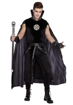 Mens Sexy Prince of Darkness Costume - FOREVER HALLOWEEN Divine Might, Prince Of Darkness, Dark Power, That Look, Take That, Scary Halloween Costumes, Sleeveless Shirt, High Collar, Sexy Men