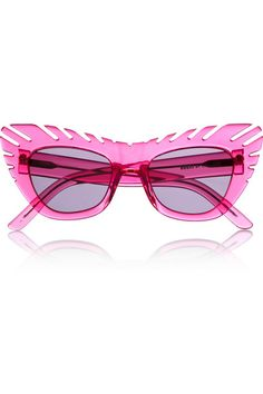 ab1ffdd590f4 House of Holland  Combover  pink cat eye acetate sunglasses Pink Sunglasses