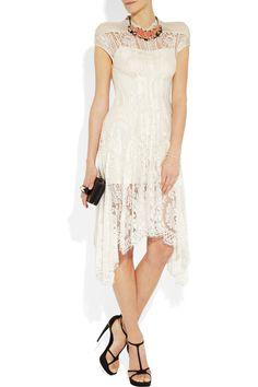 Lover|Wiccan asymmetric lace dress|NET-A-PORTER.COM