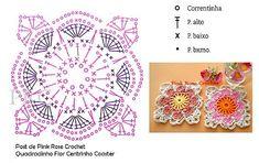 Motifs Granny Square, Granny Square Crochet Pattern, Crochet Squares, Crochet Granny, Crochet Doilies, Crochet Flowers, Crochet Lace, Granny Squares, Crochet Motif Patterns