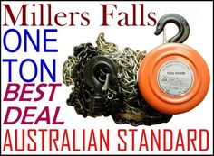 Millers Falls 1 ton chain block, High quality product in Australia