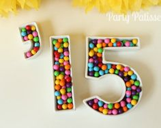 Ceramic Number Dishes Graduation Wedding by PartyPatisserie