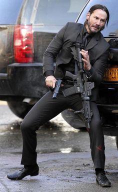 Keanu Reeves returns as John Wick Watch John Wick, John Wick Movie, Keanu Reeves John Wick, Keanu Charles Reeves, Godzilla, Outfits Hombre, Baba Yaga, Poses References, Tough Guy