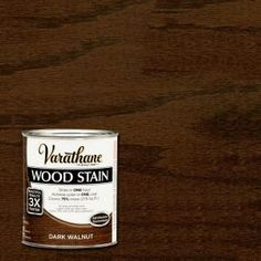 Visit The Home Depot to buy Varathane Half Pint Dark Walnut Wood Stain 266198 Dark Walnut, Walnut Wood, Varathane Wood Stain, Stain Wood, Paint Stain, Interior Wood Stain, Interior Walls, Interior Ideas, Wood Floor Stain Colors