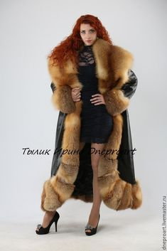 Leather coat the Queen of spades with the fur of a Fox moth – shop online on Livemaster with shipping - Fur Fashion, Womens Fashion, Thick Girl Fashion, Queen Of Spades, Fur Clothing, Fabulous Furs, Fox Fur Coat, Fur Collars, Fur Trim