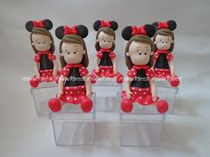 Lembrancinha festa Minnie Vermelha *Preço unitário *Mínimo 10 unidades R$ 8,50