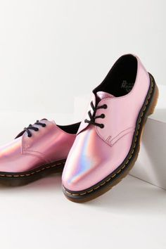 Dr. Martens 1461 Iced Metallic Mallow Pink Oxford | Urban Outfitters