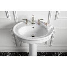 KOHLER, Willamette Pedestal Combo Bathroom Sink in Biscuit, K-R6385-8-96 at The Home Depot - Mobile