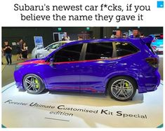 Seriously, nobody caught on to the fact that Subaru named one of its new models the Forrester Ultimate Customized Kit Special? Casey Neistat, Teenage Rebellion, Subaru Forester, Cool Technology, Top Gear, New Model, Tech Gadgets, New Day, Confident