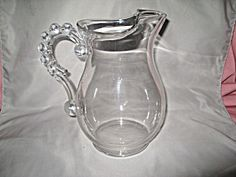 CANDLEWICK 80 oz ICE LIP WATER PITCHER BEADED