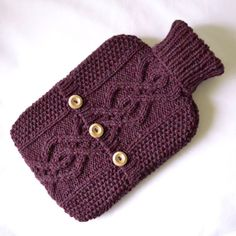 Bramble hot water bottle sweater / cover - 100 per cent Scottish Wool by ACrookedSixpence - READY TO SHIP