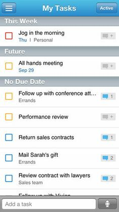 Astrid: Designed for both Droids and iPhones, Astrid (free) helps moms clear off their to-do lists with weekly status updates showing users what they've completed and what's left to do.