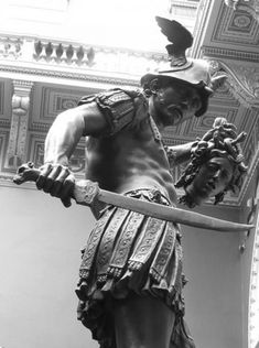 Title: Perseus and Medusa By: Aubrey Alexander Hill. Found on Google. This is a statue depicting the end of the battle between Perseus and Medusa, and it shows how Perseus was victorious. I really like the angle of this picture and makes Perseus look extremely intimidating.