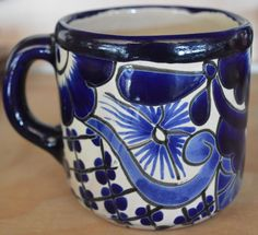 "This is a mug at talavera peacock blue.  Measures: 3 1/2 ""wide x 4"" high  ---------------------------------------------------- -Does not have lead.  -Can be put in the microwave. The colors of this sugar are so vivid that will add color to your kitchen.  Exclusive design  -Handmade  https://www.etsy.com/mx/shop/Talaverapottery?section_id=15111905&ref=shopsection_leftnav_5  [ You like things in Talavera]…"