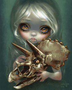 Skull Stealer cemetery gothic angel art Jasmine Becket-Griffith CANVAS PRINT