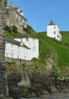 Roscarrock Hill, Port Isaac, North Cornwall, England, UK. This is where the TV series Doc Martin is mostly filmed.