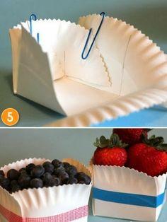 Artesanato, Criatividade e Afins: cestinha com prato de papelao, com PAP