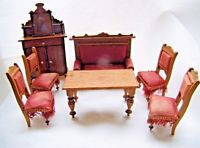 Fine German Dolls House Victorian Antique Furniture Sofa, Chairs, Table etc