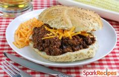 Low fat sloppy joes that don't skimp on flavor!