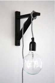 an ikea shelf bracket for hanging a light. about pop talk. an ikea shelf bracket for hanging a light. about Poppytalk. an ikea shelf br - Modern Wall Lights, Modern Wall Sconces, Modern Lamps, Luminaria Diy, Edison Lampe, Edison Bulbs, Ikea Regal, Diy Luminaire, Home Decor Hacks