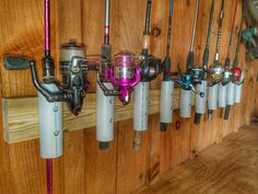 DIY PVC Fishing Rod DIY PVC Fishing Rod Holder Everything outdoors from hunting and fishing articles to DIY outdoor/indoor woodworking projects by Cedarantler. Pvc Rod Holder, Diy Fishing Rod Holder, Fishing Pole Storage, Pole Holders, Fishing Poles, Ice Fishing, Trout Fishing, Carp Fishing, Saltwater Fishing