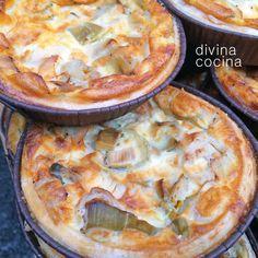 Quiche de puerros y jamón < Divina Cocina