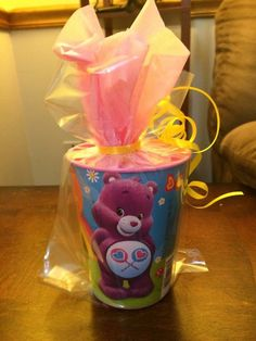A personal favorite from my Etsy shop https://www.etsy.com/listing/271633366/care-bears-party-favor-party-cup-1-per