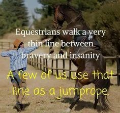 Horse people are a special kind of crazy ❤️ Funny Horses, Cute Horses, Pretty Horses, Horse Love, Beautiful Horses, Equine Quotes, Equestrian Quotes, Equestrian Problems, Horse Riding Quotes