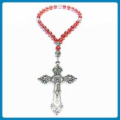 RED Handcrafted Anglican Prayer Beads Episcopal Saints Rosary Beaded Chain - Wedding nacklaces (*Amazon Partner-Link)