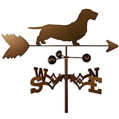 Wirehaired Dachshund Dog Weathervane | Overstock.com Shopping - Great Deals on Garden Accents