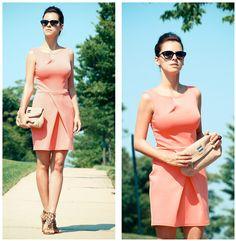 Peach scuba dress (by Veronica  P) http://lookbook.nu/look/3617099-Peach-scuba-dress