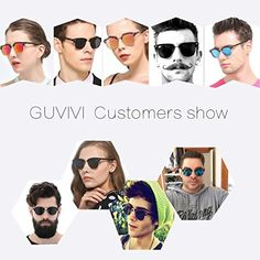 GUVIVI Neutral Retro Border Polarized Sunglasses (black/orange) Summer Sunglasses, Mens Sunglasses, Polarized Sunglasses, Neutral, Orange, Retro, Black, Black People, Neo Traditional