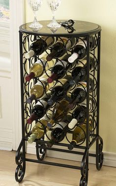 Holly & Martin Monterey Glass Top Wine Storage Table  http://www.ubuyfurniture.com/holly-martin-glass-wine-table.html