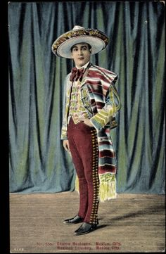 Vintage photo of charro costume