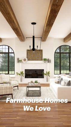 Interior Design Living Room, Living Room Decor, Interior Decorating, Room Interior, Kitchen Interior, Modern Farmhouse Design, Farmhouse Decor, Style Cottage Anglais, Room Additions