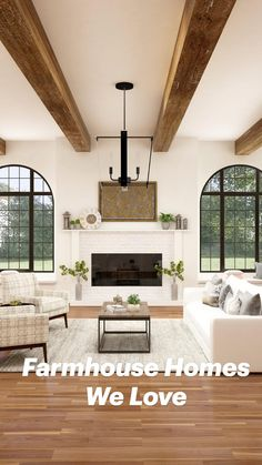 Living Room Modern, Home And Living, Living Room Designs, Living Room Decor, Small Living, Modern Farmhouse Design, Farmhouse Decor, Style Cottage Anglais, Home Interior Design