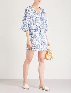 13b6c9c95b4 SEAFOLLY Lovebird floral-print woven kaftan Swimsuit Cover Ups