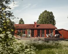 Red Cottage, Cottage Homes, Red Roof, Countryside, My House, House Plans, Nars, Shed, 1