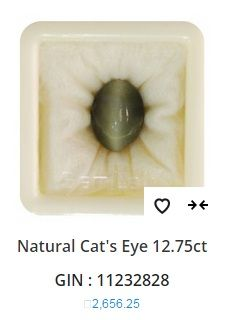 """""""The Weight of Natural Cat's Eye is about 12.75 carats, The measurements are 15.41mm x10.85mm x11.26mm, The shape/cut-style of this Natural Cat's Eye is Oval, This 12.75 carat Natural #CatsEye is available to order and can be shipped anywhere in the world, Gemstone certification is provided by GemLab."""