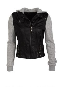Jersey Mix Faux Leather Jacket