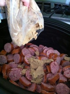 Kielbasa and light brown sugar