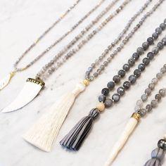 gold & gray jewelry